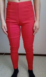 Forcast red leggings