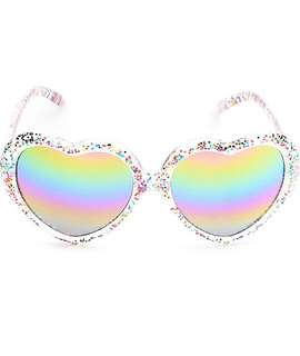 Glitter heart sunglasses