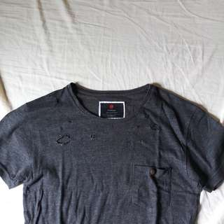 Cotton On Ripped Gray Shirt