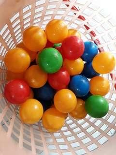 Preloved 5.5cm soft plastic ball for kids