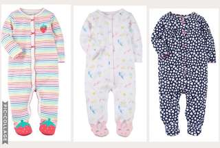 Carter's Footed Sleepsuits for Girls