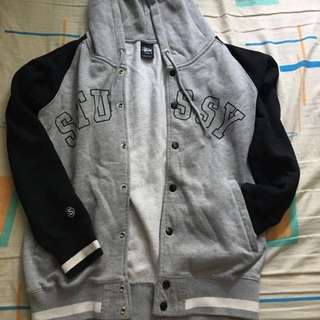 Stussy 灰色衛衣料外套