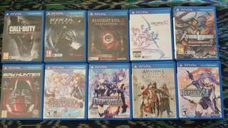 First Come First Served Sony PlayStation Vita Original Game Catridge July offers!!!