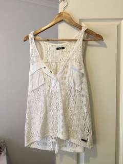 Rusty white lace top