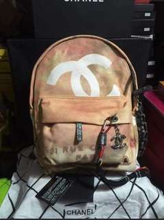 Chanel Graffiti Canvas Backpack New, Rare