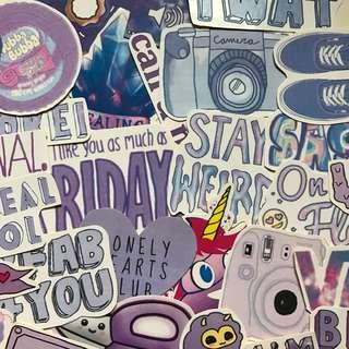 Purple tumblr stickers