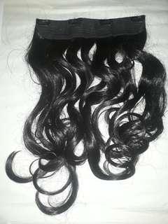 Hairclip Black Curly