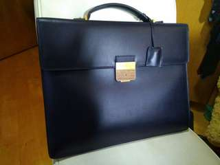 Ferragamo briefcase case bag 絕版 藍色
