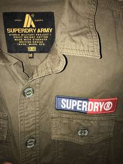 New SUPERDRY army style cotton shirt