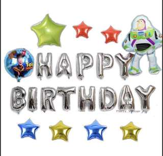 <In-Stock> Happy Birthday Party decoration set -Buzz and woody