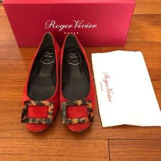 Roger Vivier Flats - Gommette Turtle Buckle Flats, Red