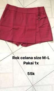 Celana rok wanita fit to M-L