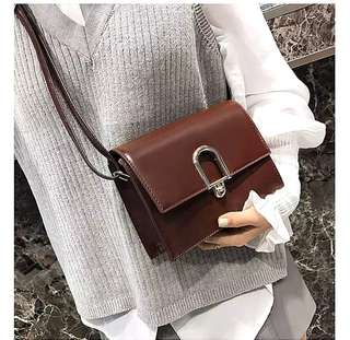 Elise Leather Buckle Sling Bag