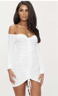 White sexy dress off shoulder