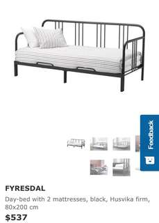 Ikea sofa bed/day bed