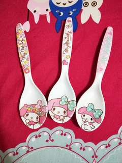 My Melody plastic spoons