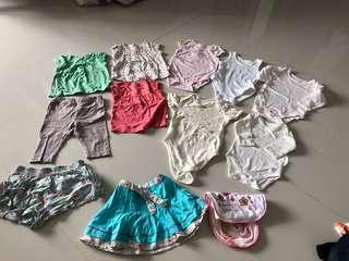 [Preloved] (0-9M) Baby Girl Clothings In Bundle