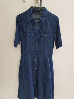 Zara Denim Dress (Dark Blue)
