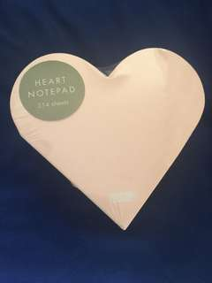 Heart notepad from Kikki.k