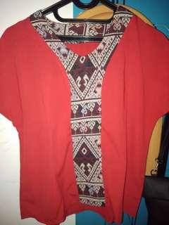 Baju motif mewah Red