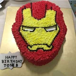 立體蛋糕 3D Iron man蛋糕