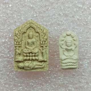 Phong Prai Guman Pim lek Phra Khun Paen & Phra Nakprok set of LP Sin Wat lahanrai (thai amulet)