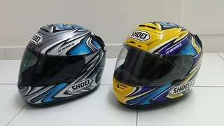 Original Shoei X11 Kato #74 limited edition collectors helmet (Price for 2 Helmets)