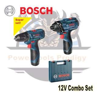[NEW] BOSCH 12V CORDLESS COMBO KIT GSR 120-LI + GDR 120-LI