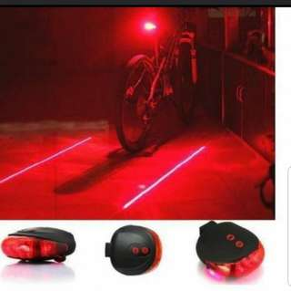 🔔 🚔Red light Red Laser Track Rear LED Light Bike Bicycle Ebike Fixie Group Safety Style Bmx Road SCOOTER Front Head Light 👥👣Vaun