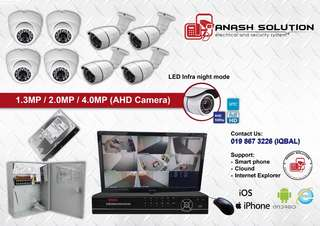 CCTV 2.0MP HD / FULL HD 4CH 8CH 16CH with wiring
