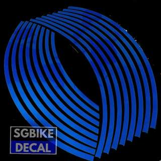 Blue Reflective Rim Decal