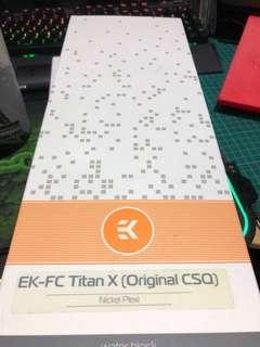 EK-FC Titan X Original CSQ with nickel back plate