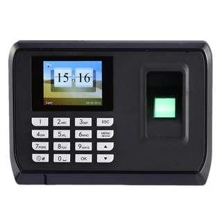 🚚 PROMO - 2.4 TFT Fingerprint Biometric Time Attendance Clock Employee Payroll Recorder