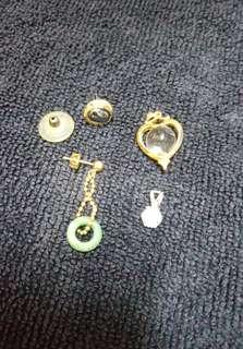 🚚 (4個飾品) 墜子×2 耳環×2