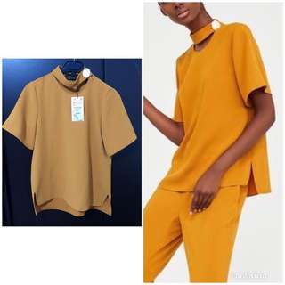 ZARA NEW WITH TAG yellow top