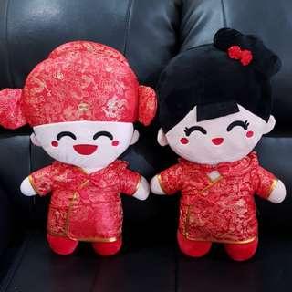 HOT ITEM!! Boneka Chinese Couple Wedding Edition Ukuran Jumbo