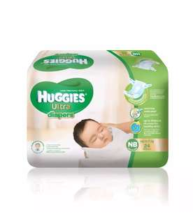Huggies Ultra Dry Diaper (NB and Small)