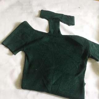 Choker Green Top