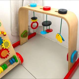 Ikea LEKA wooden baby play gym