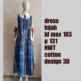 Dress hijab nwt 3 d flower