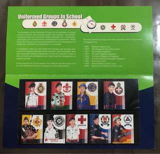 Singapore 2007 school uniform groups stamps set MNH in presentation pack
