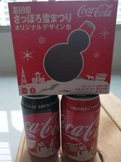 Coca-Cola Sapporo snow festival cans