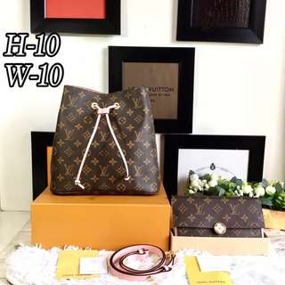 LV Noe with wallet set