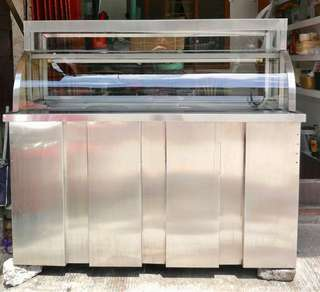 STAINLESS FOOD STALL WITH FOOD WARMER