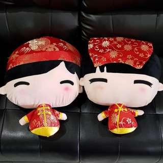 HOT ITEM!!! Boneka Chinese Couple Wedding Jumbo Head