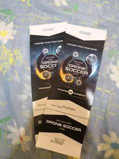 Drone Soccer Game Tickets 2pcs