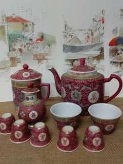 Wan shou vintage design teapot n cup as  show