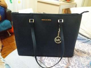Authentic MK tote bag Navy Blue