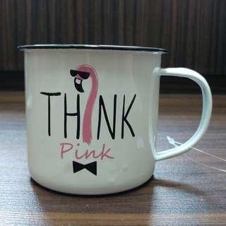 🚚 Enamel cup mug - Think Pink