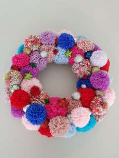 🚚 Pom pom Christmas wreath - pre order